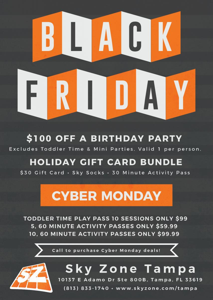 Black Friday And Cyber Monday At Sky Zone Tampa Fl Nov 23 2018 11 00 Am