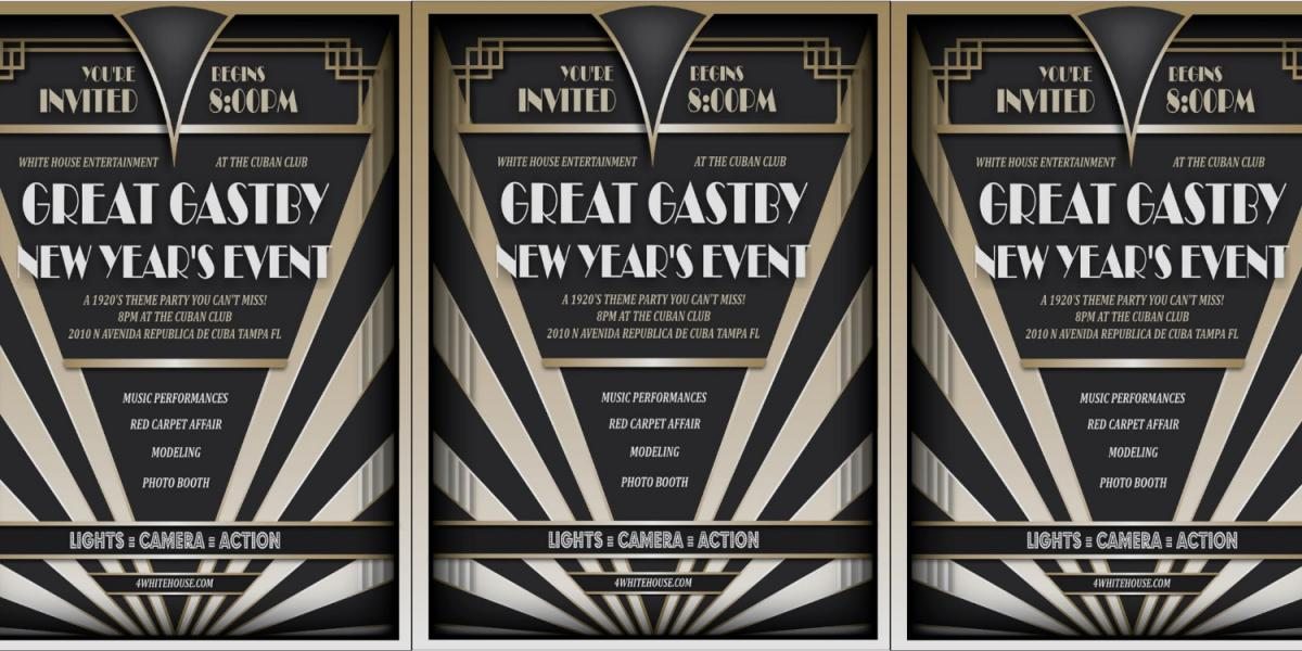 tampa great gatsby new years party