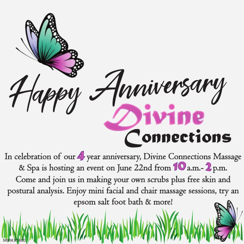 Divine Connection Massage 4 Yrs Anniversary Event