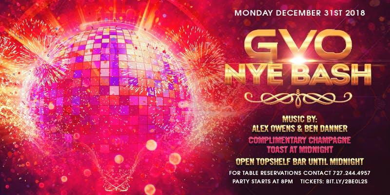 GVO NYE Bash | OPEN BAR UNTIL MIDNIGHT, Tallahassee ...
