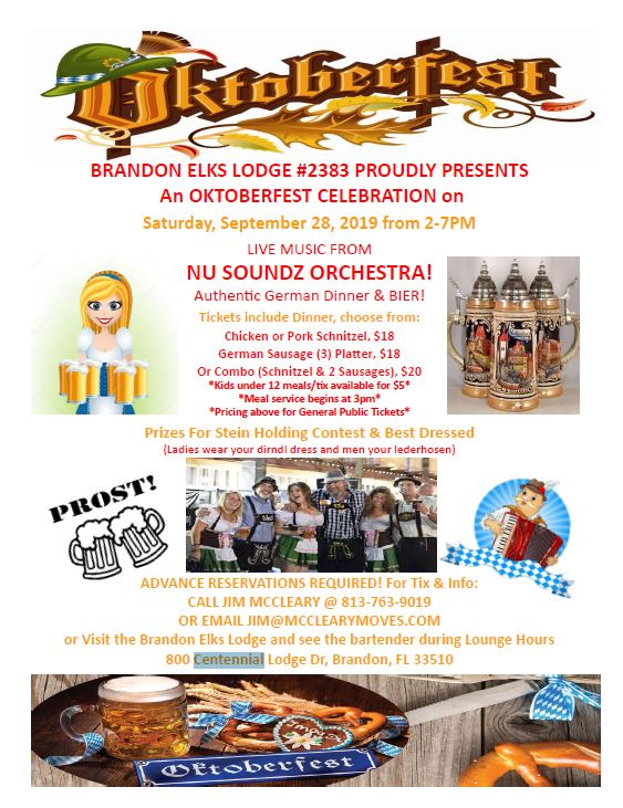 Brandon Elks Lodge Oktoberfest Celebration