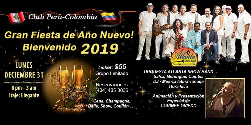 02eb42ce6c New Year s Eve 2019 Latin Party! Club Perú-Colombia