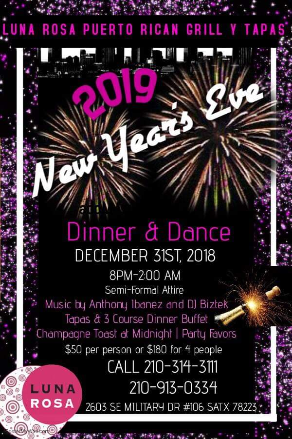 2019 New Year's Eve Dinner and Dance, San Antonio TX - Dec ...