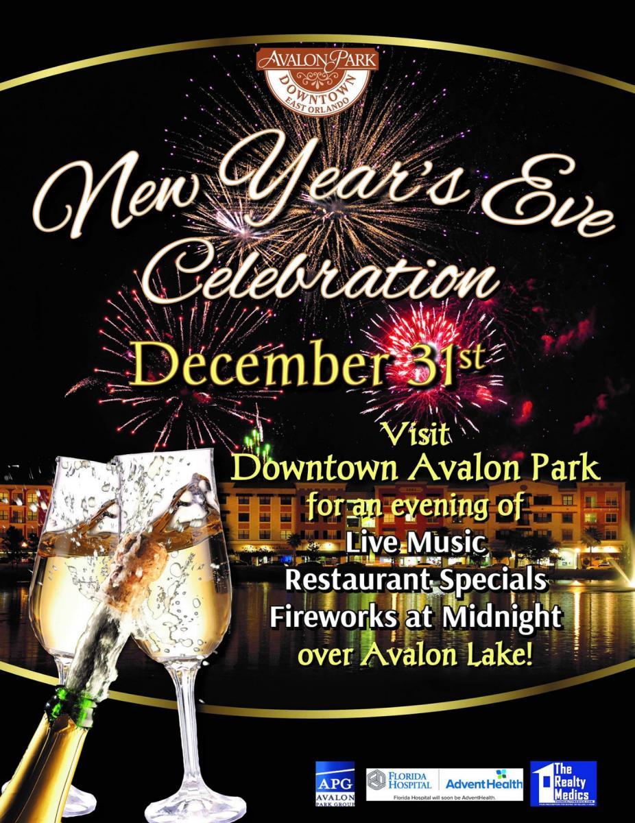 New Year's Eve Celebration at Avalon Park, Orlando FL - Dec 31, 2018 - 9:00 PM