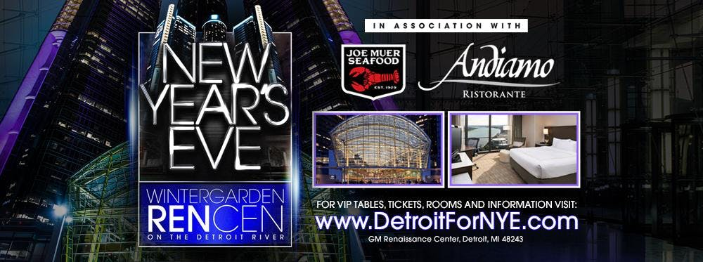 New Years Eve at The Wintergarden RenCen on the Detroit