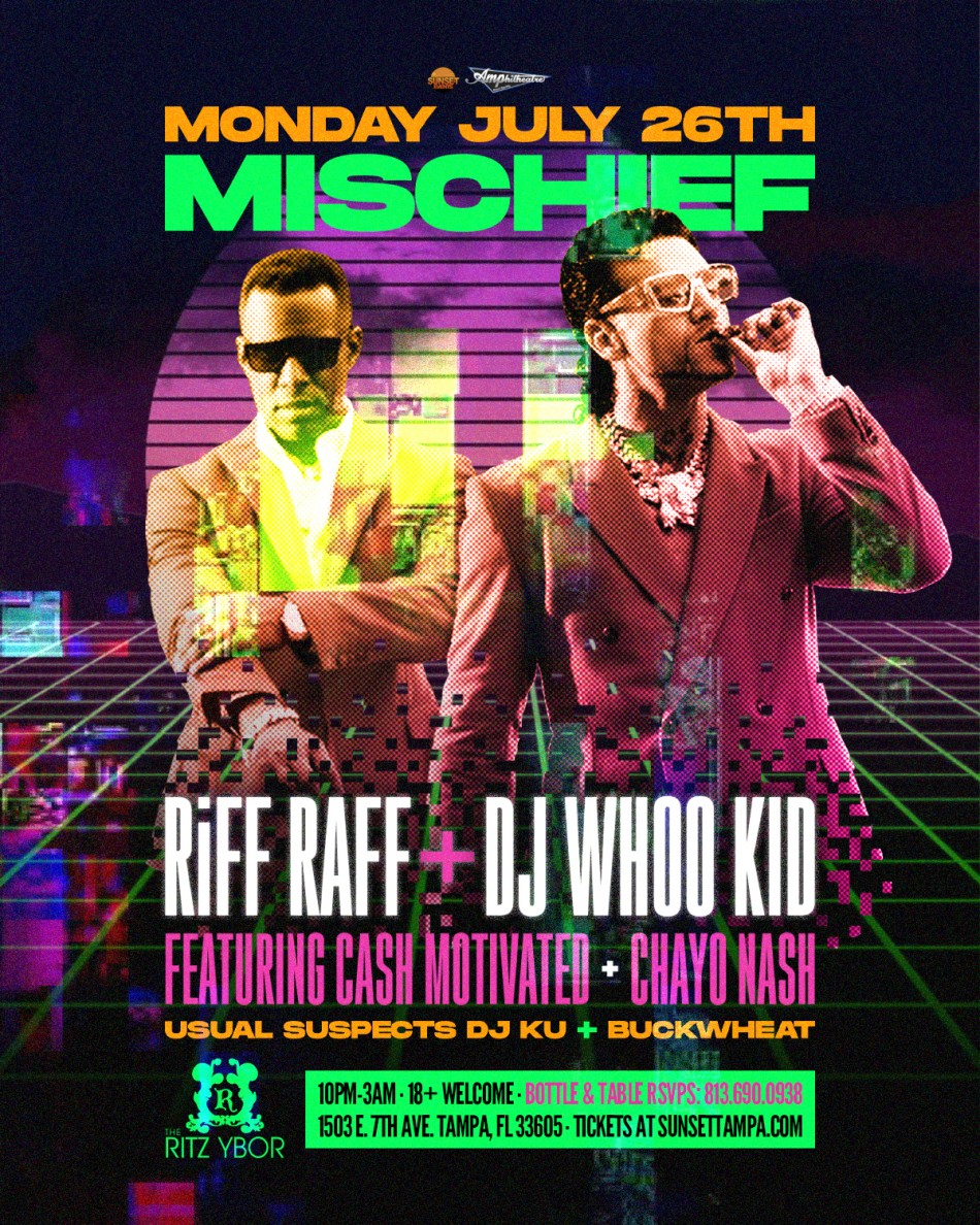 Riff Raff + DJ Whoo Kid - The Ultraviolet Pirates Tour