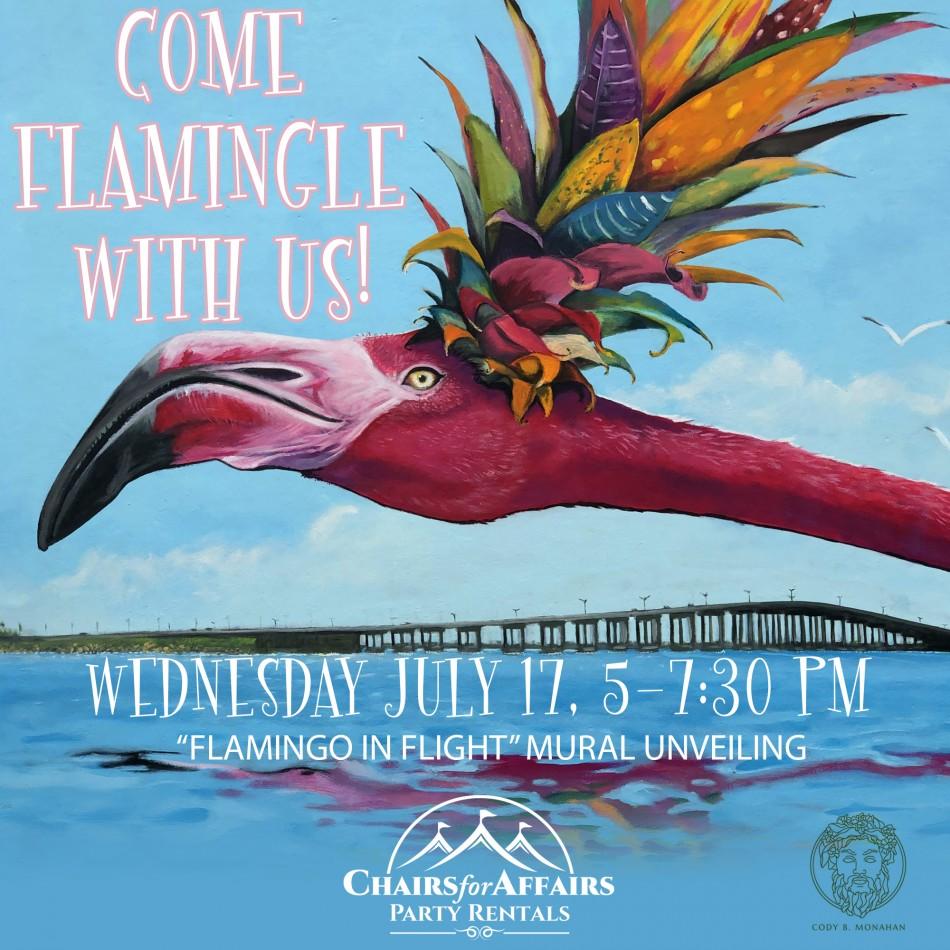 Flamingo in Flight Mural Unveiling