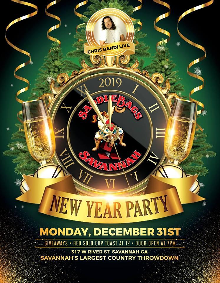 New Year's Eve Party with Chris Bandi, Savannah GA - Dec 31, 2018 - 8:00 PM