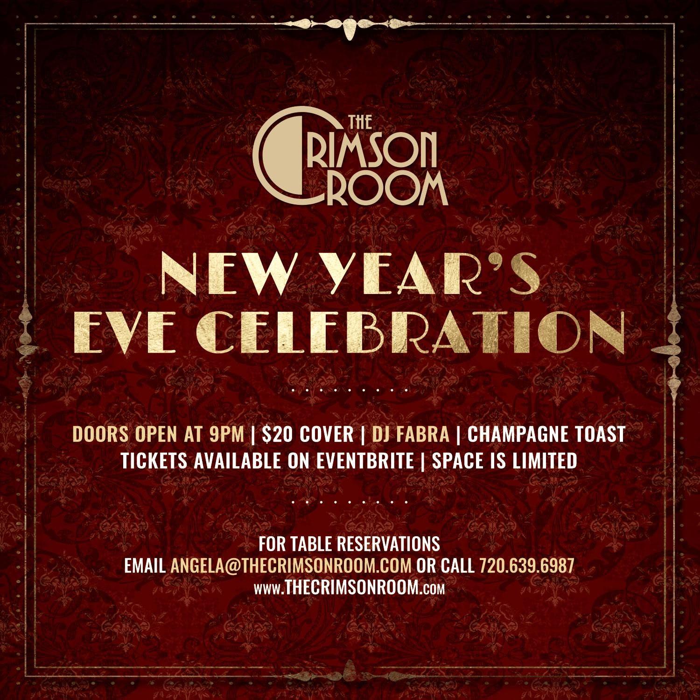 The Crimson Room New Years Eve 2019, Denver CO - Dec 31 ...