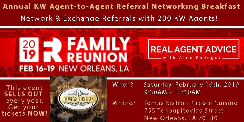 Annual KW Family Reunion Agent-to-Agent Referral Networking