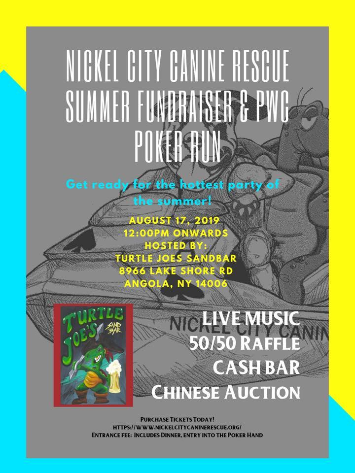 1st Annual Nickel City Canine Summer Fundraiser & PWC Poker Run