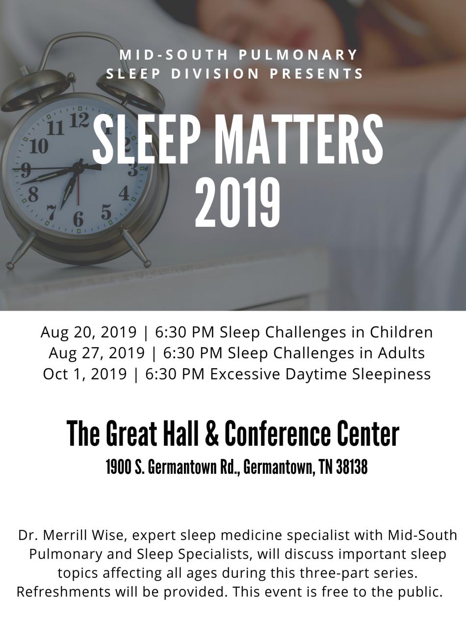 Sleep Matters 2019