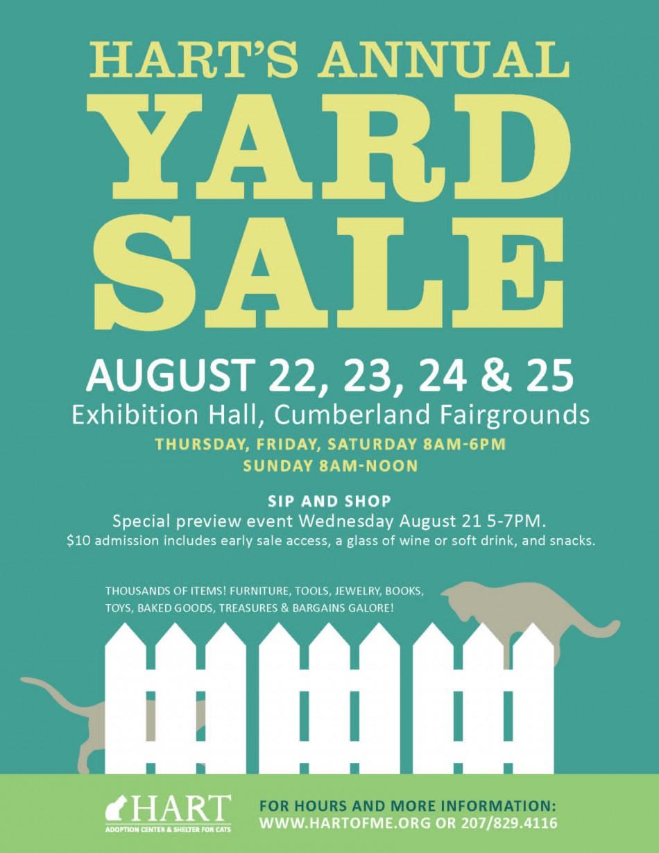 HART Yard & Bake Sale