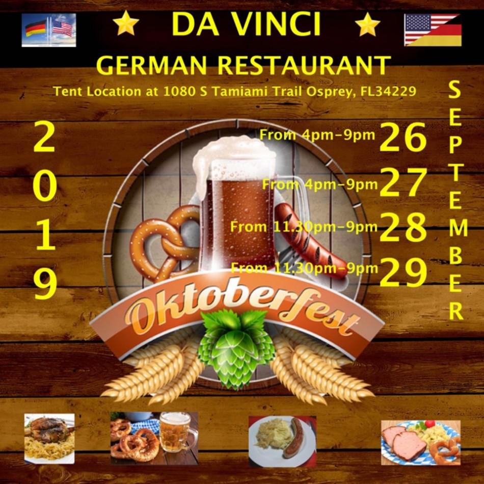 Oktoberfest 2019 DaVinci German Restaurant Tent