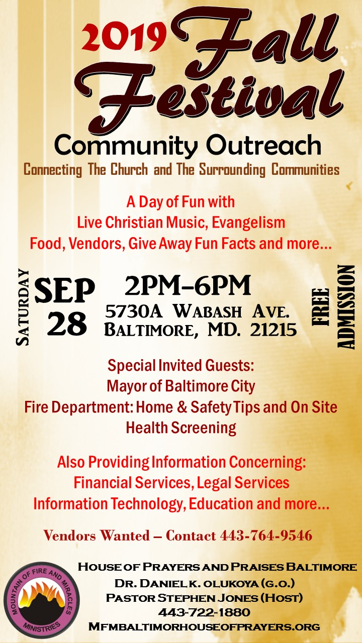 Fall Festival Community Outreach