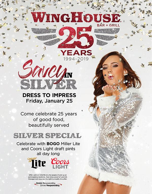 Saucy in Silver - 25th Anniversary Kick off