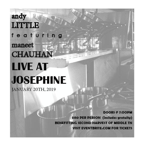 Chefs Maneet Chauhan and Andy Little Live at Josephine