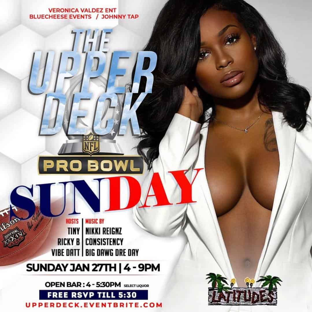 Upper Deck Rooftop Day Party Pro Bowl Weekend at Latitudes