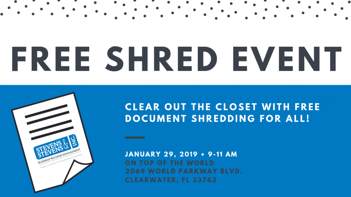 Free Shredding Event: Clearwater Retirement Community, St