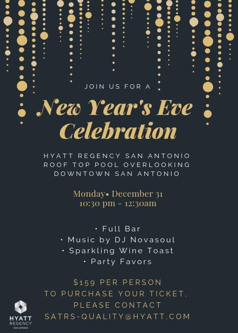 Hyatt Regency Riverwalk Rooftop NYE Celebration