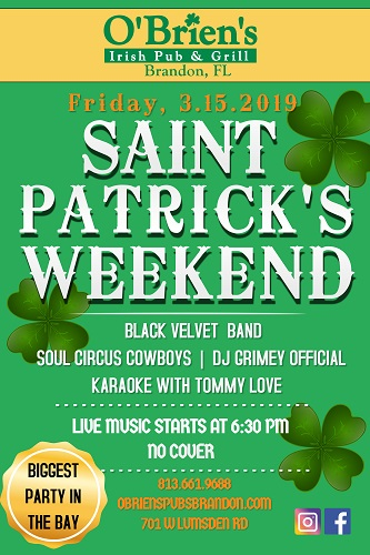 Friday - O'Brien's St. Patrick's Weekend