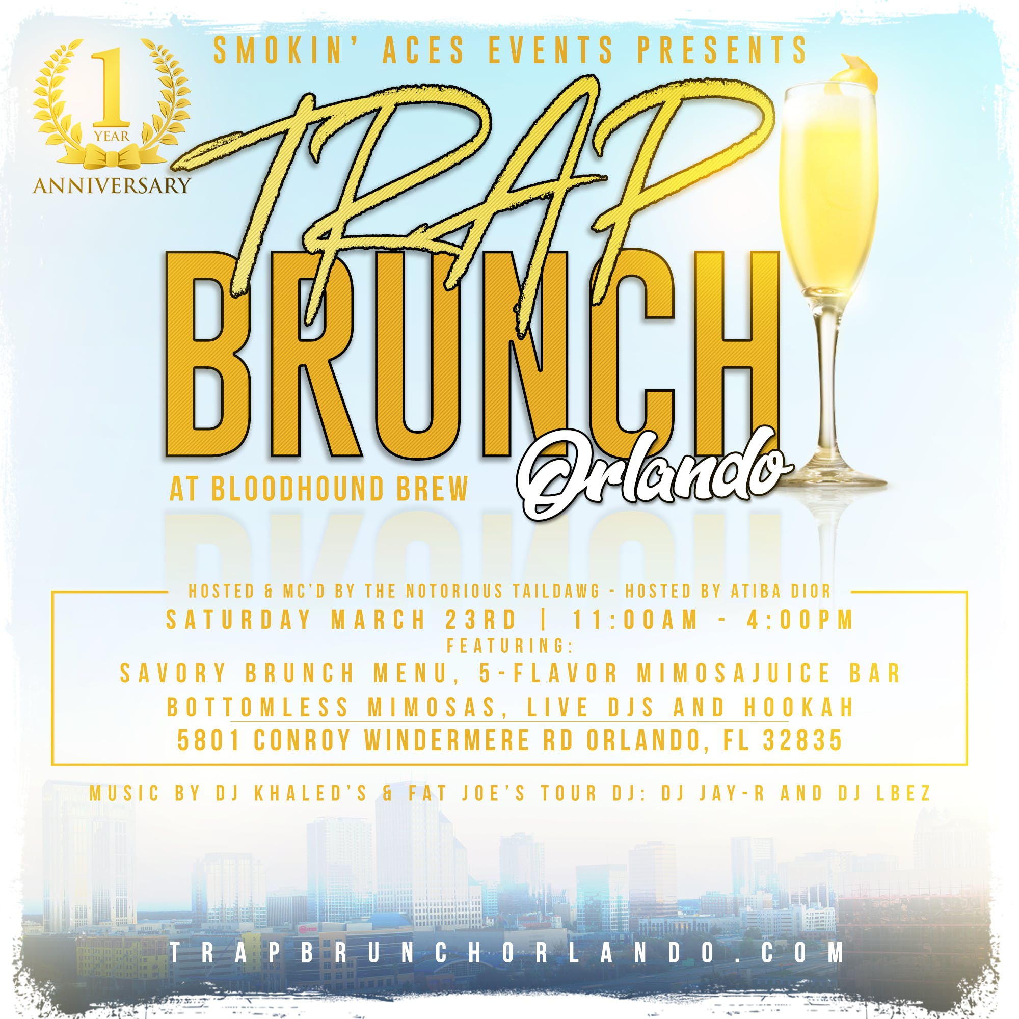 Trap Brunch 1yr Anniversary Celebration @ Bloodhound Brew