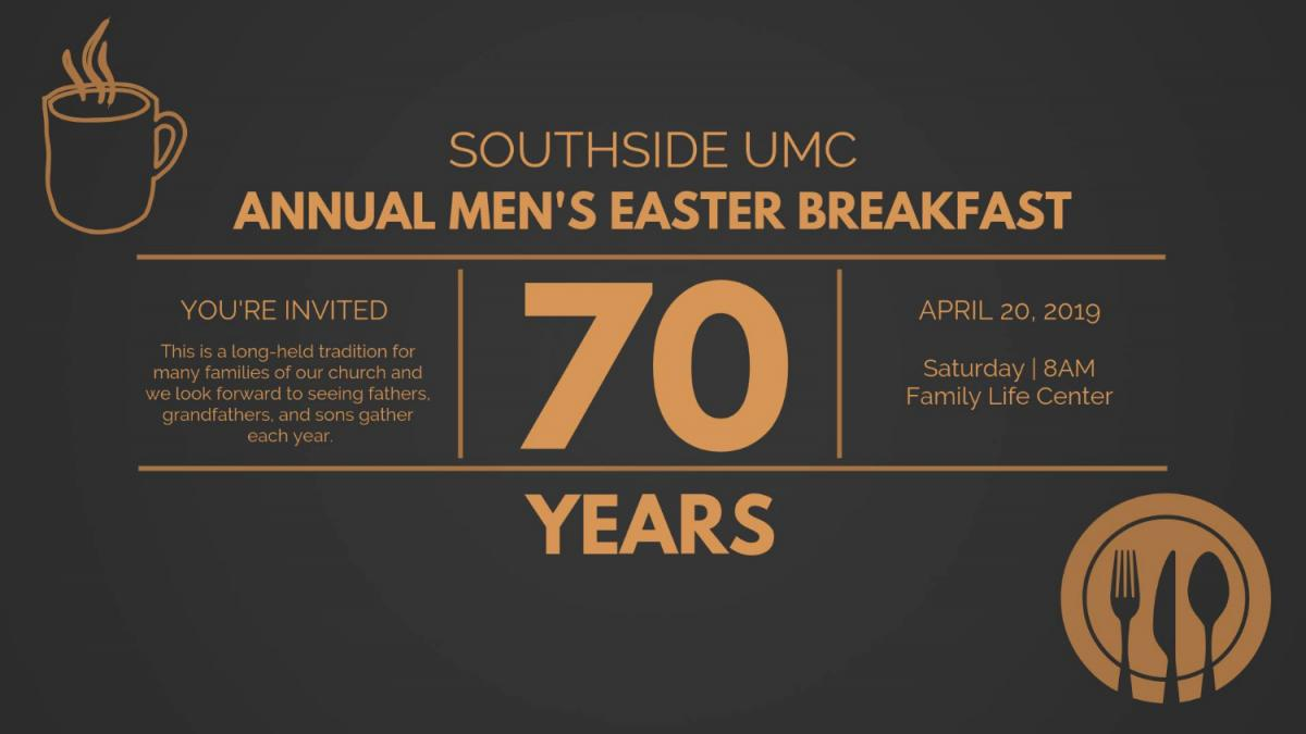 SUMC's 70th Annual Men's Easter Breakfast, Jacksonville FL