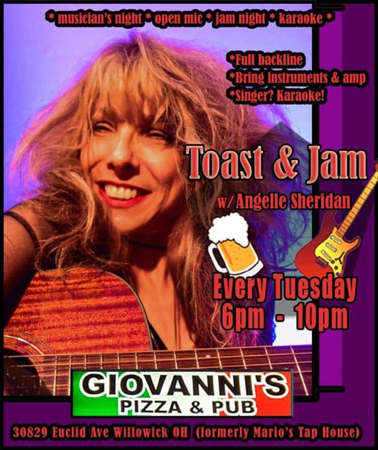 Toast & Jam Open Mic Musician's Night + Karaoke and Pizza