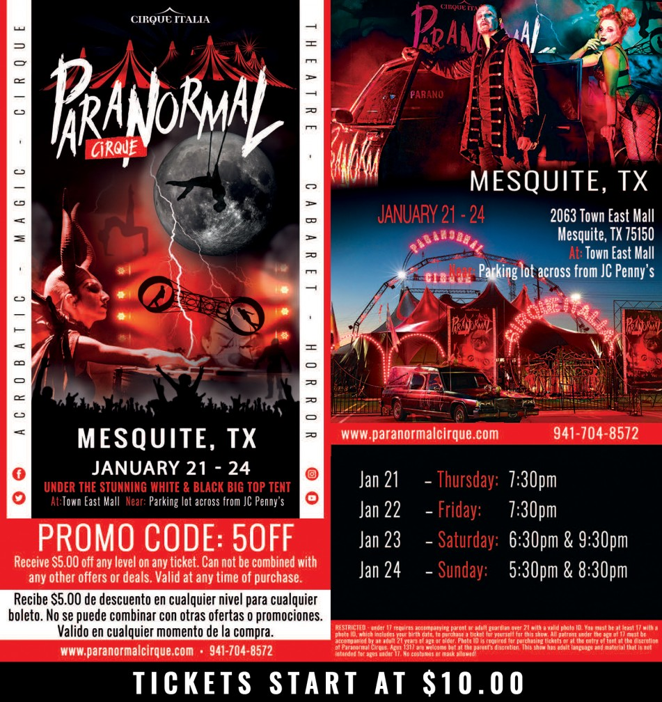 Paranormal Cirque - Town East Mall