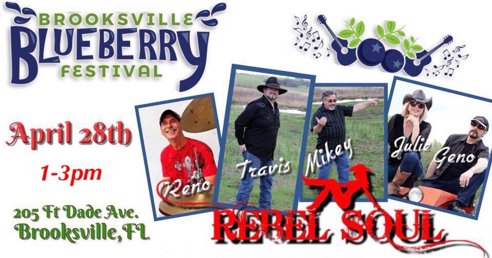 Brooksville Blueberry Festival 2020.Rebel Soul At Brooksville Blueberry Festival North Central