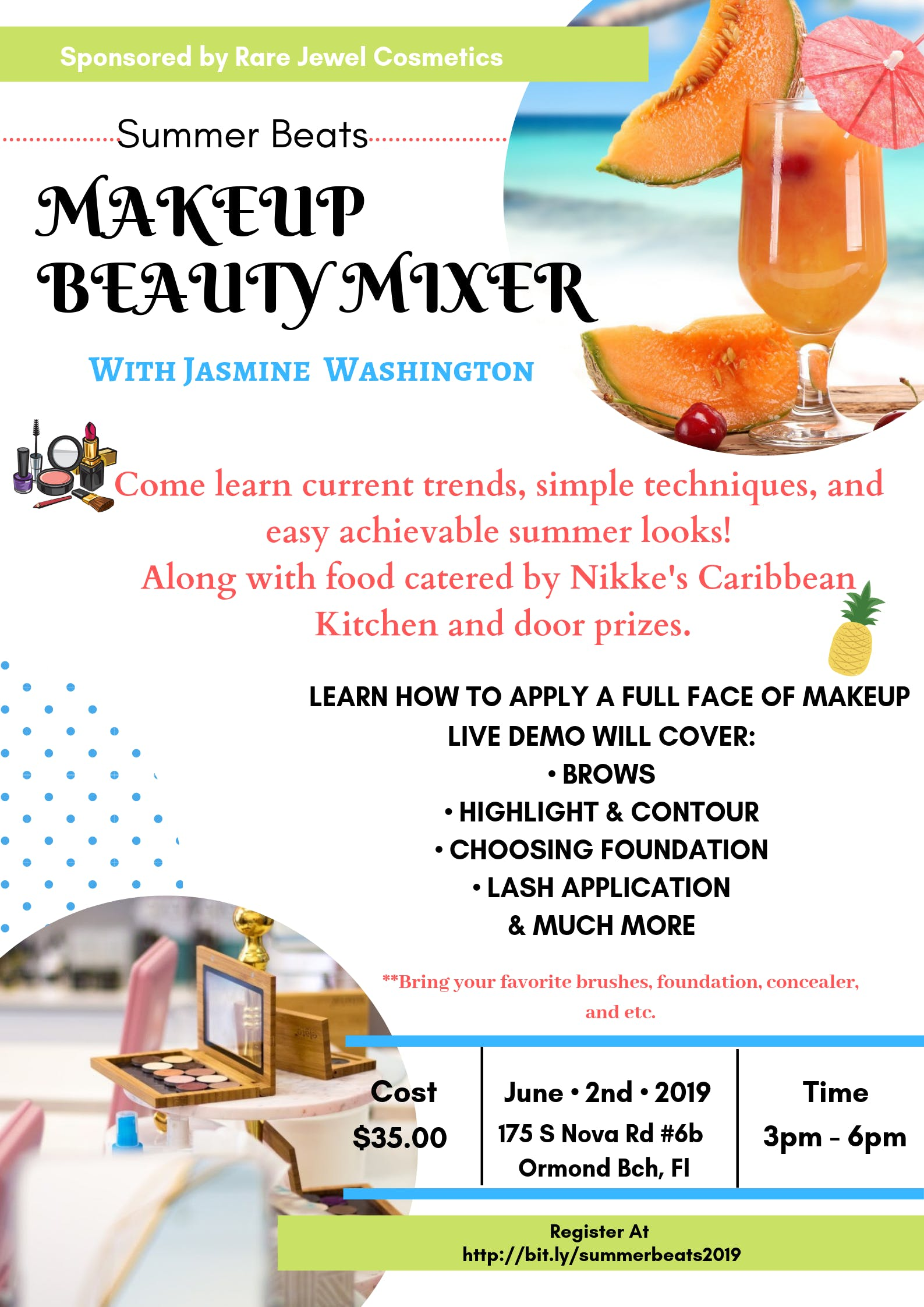 Summer Beats Makeup Beauty Mixer, Daytona Beach FL - Jun 2