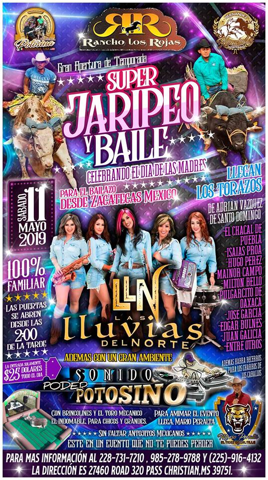 Super Jaripeo Y Baile, Mississippi Gulf Coast MS - May 11