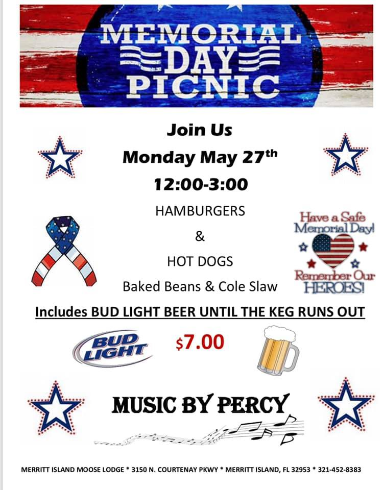 Memorial Day Party, Brevard County FL - May 27, 2019 - 12:00 PM