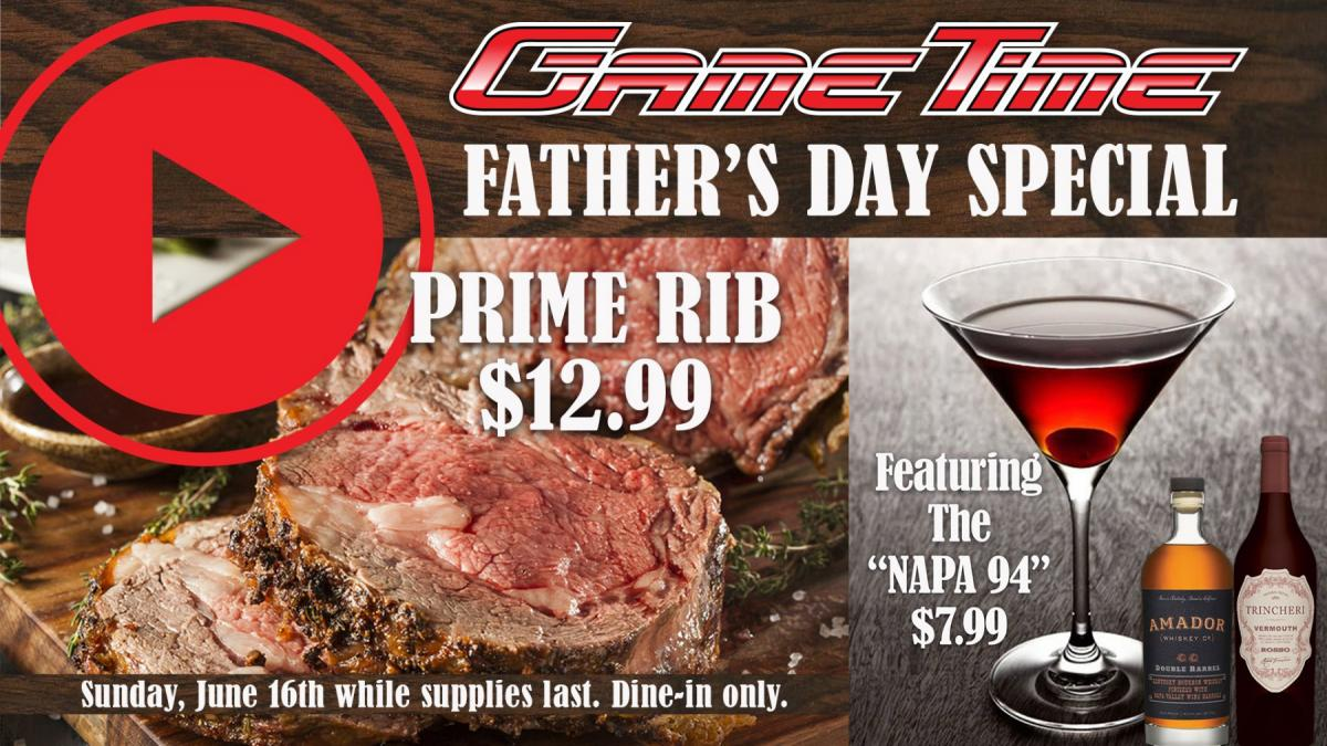 Celebrate Father's Day at GameTime!