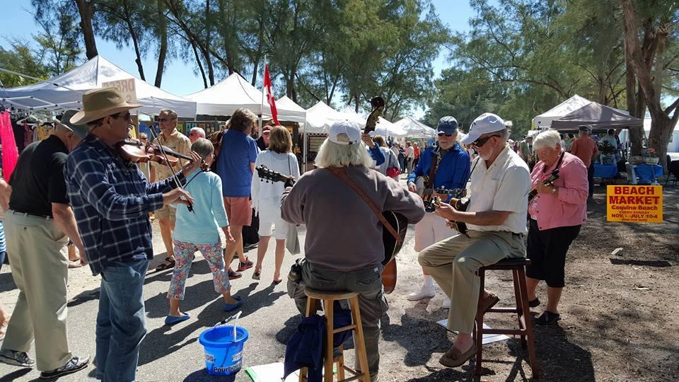 Beach Market at Coquina Beach, Bradenton & Sarasota FL - Jun 16