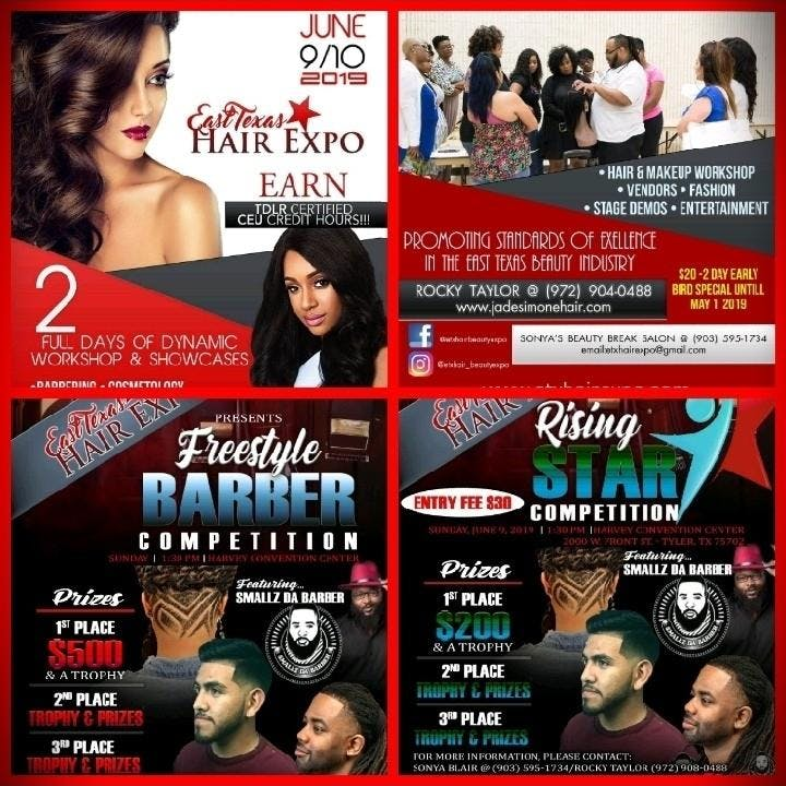 East Texas Hair & Beauty Expo 2019, Tyler TX - Jun 10, 2019