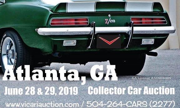 Car Auctions In Atlanta >> Vicari Classic Car Auction Atlanta 2019 Atlanta Ga Jun