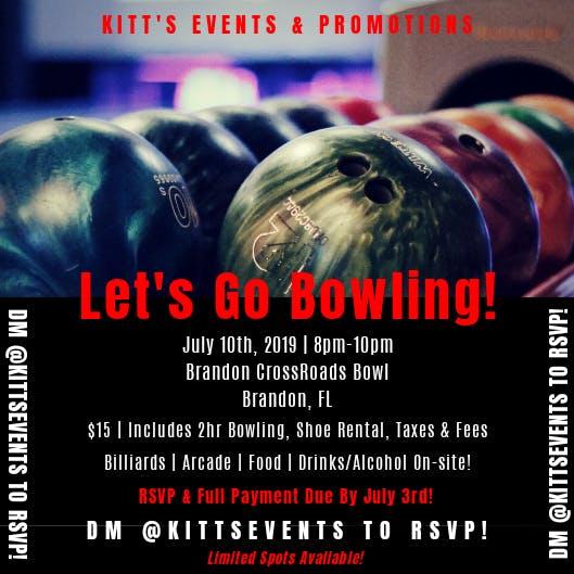 Wednesday Night Bowling, Tampa FL - Jul 10, 2019 - 8:00 PM