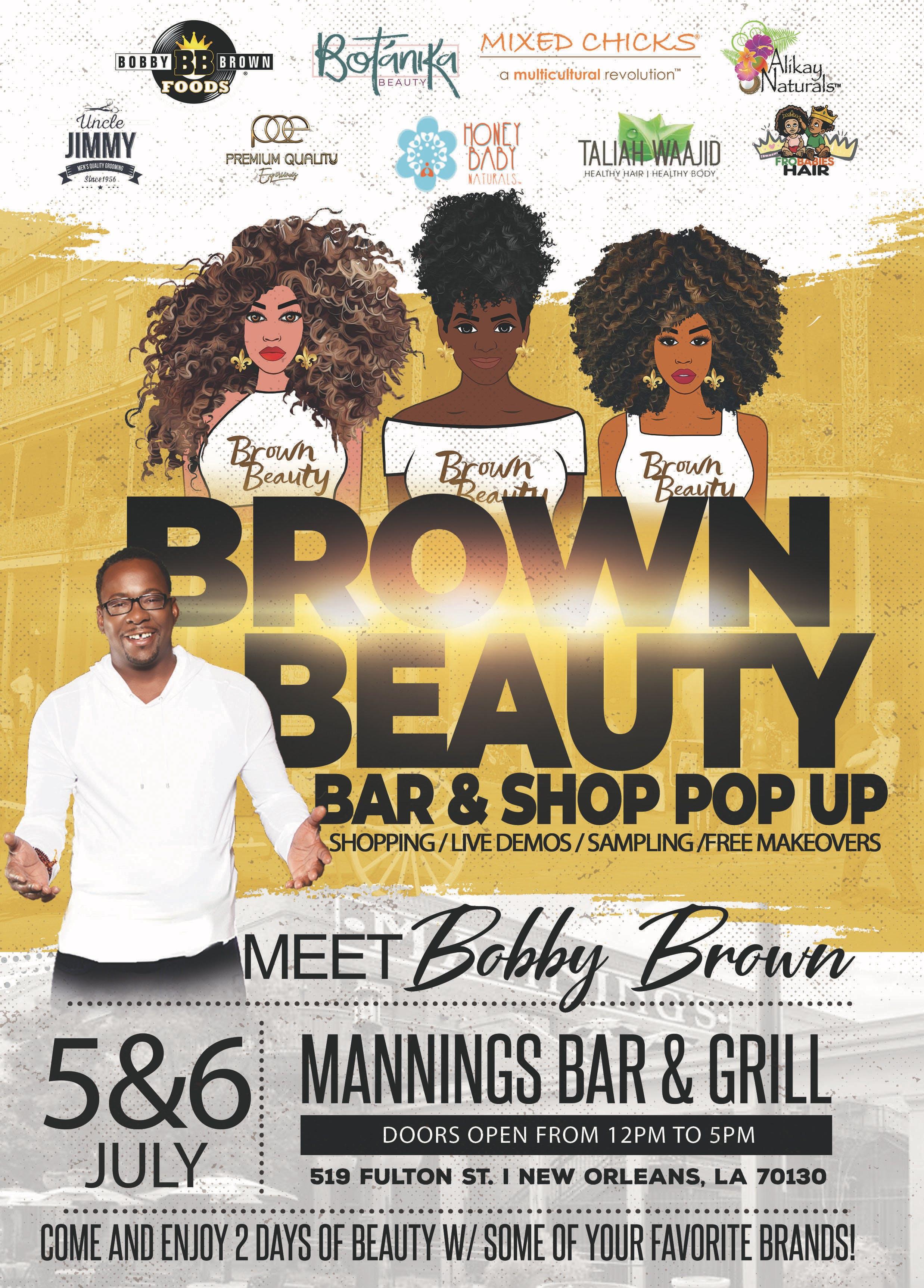 Brown Beauty Bar & Shop Pop Up, New Orleans LA - Jul 5, 2019