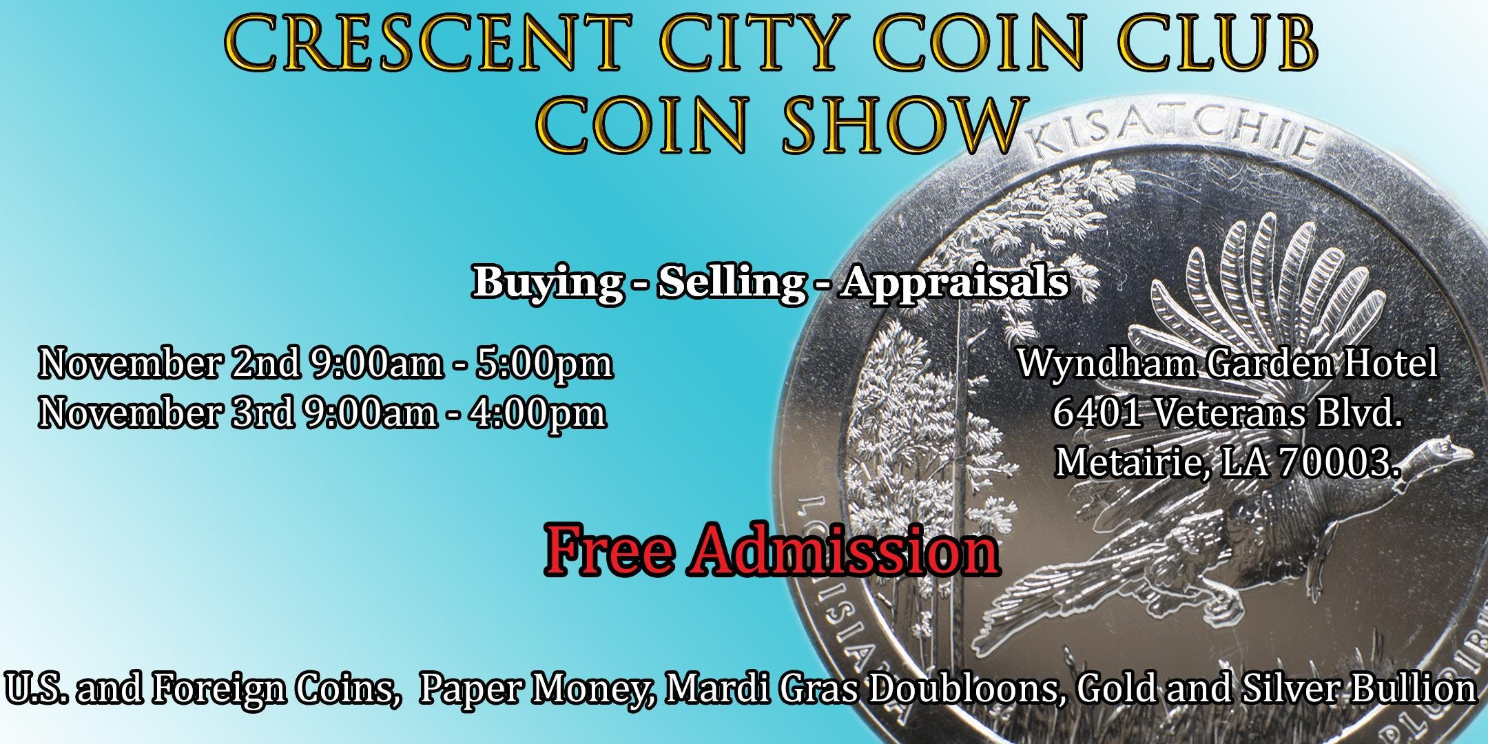 upcoming coin shows in my area