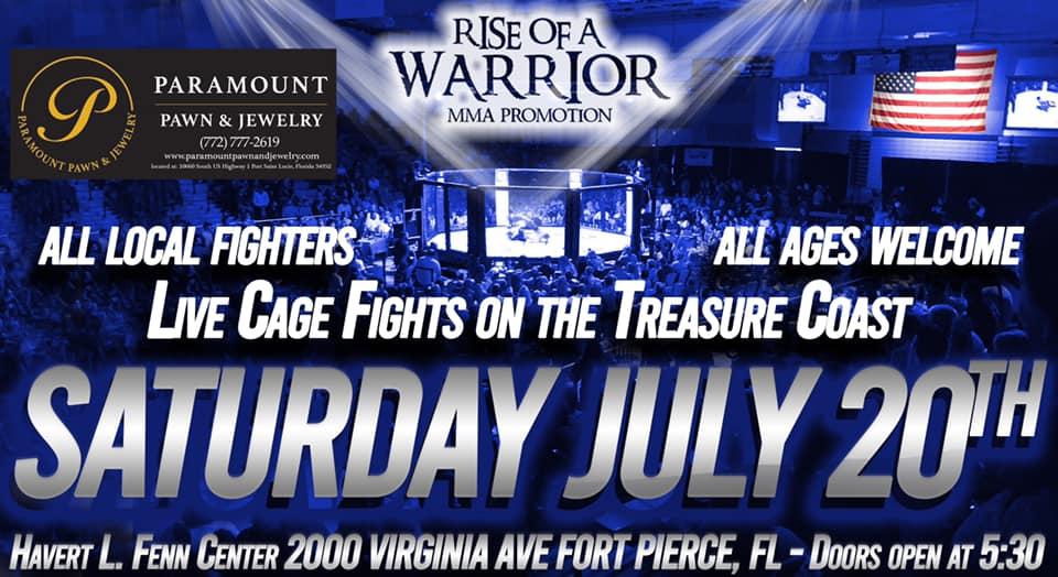 Rise Of A Warrior 26: LIVE CAGE FIGHTS, Treasure Coast FL