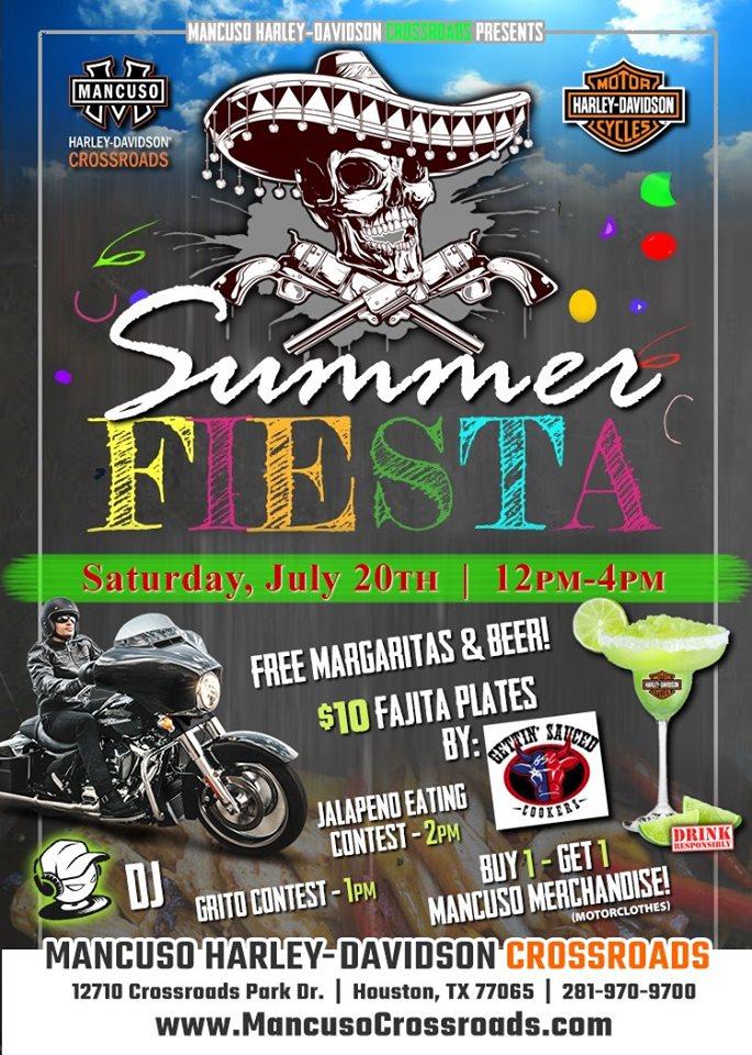Mancuso Harley Davidson >> Summer Fiesta Houston Tx Jul 20 2019 12 00 Pm