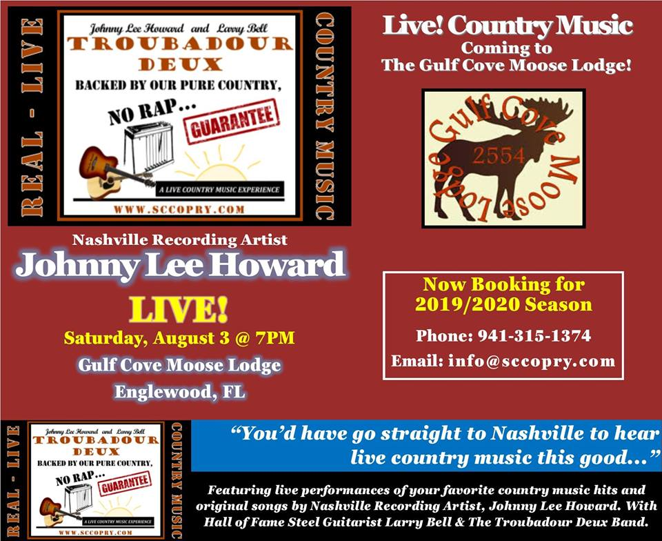 LIVE! Country Music - Gulf Cove Moose Lodge Englewood, FL ...