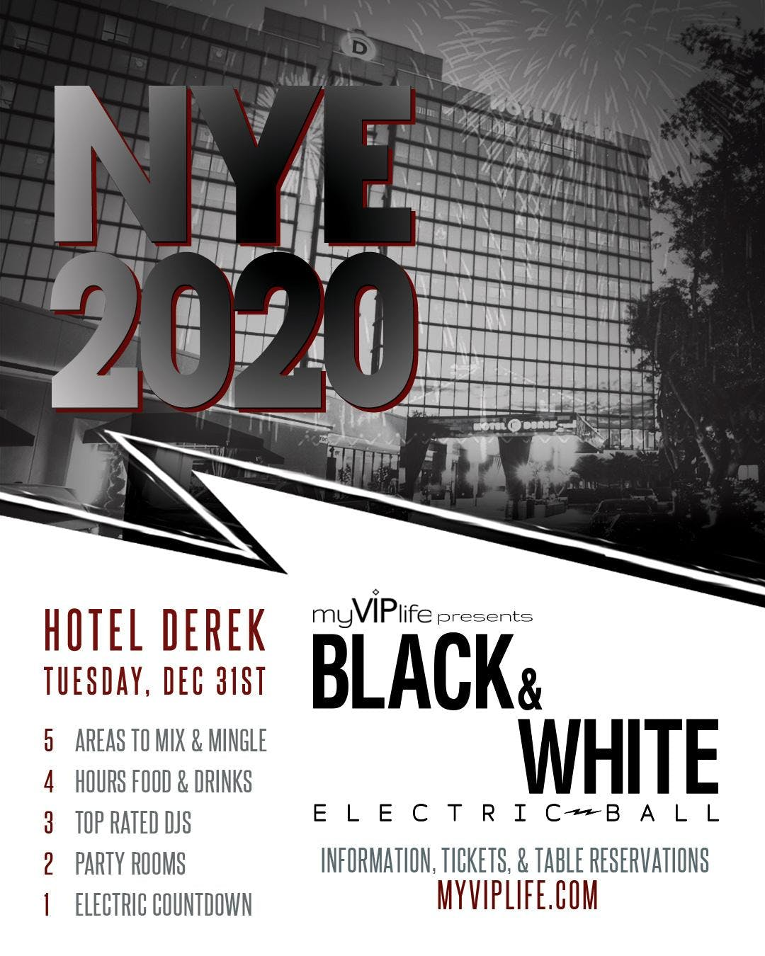 Black & White NYE Electric Ball | New Year's Eve 2020 ...