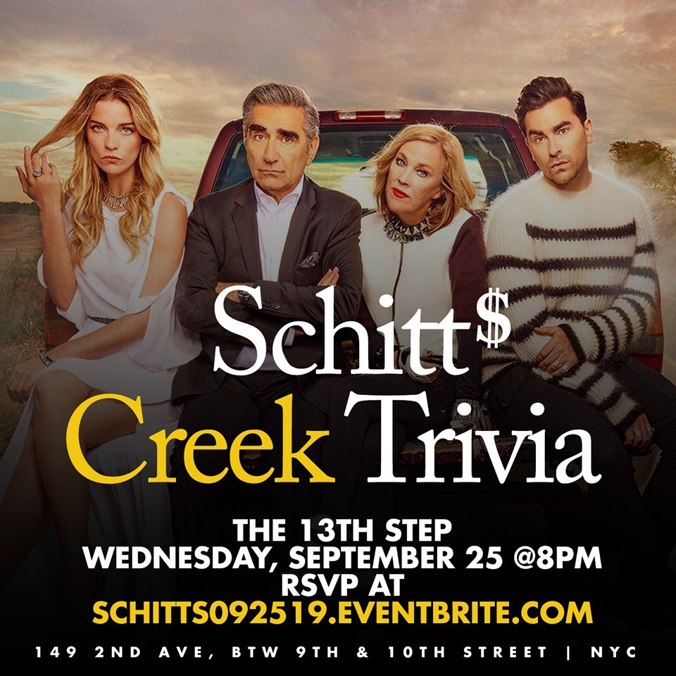 Schitt's Creek Trivia, New York City NY - Sep 25, 2019 - 8:00 PM