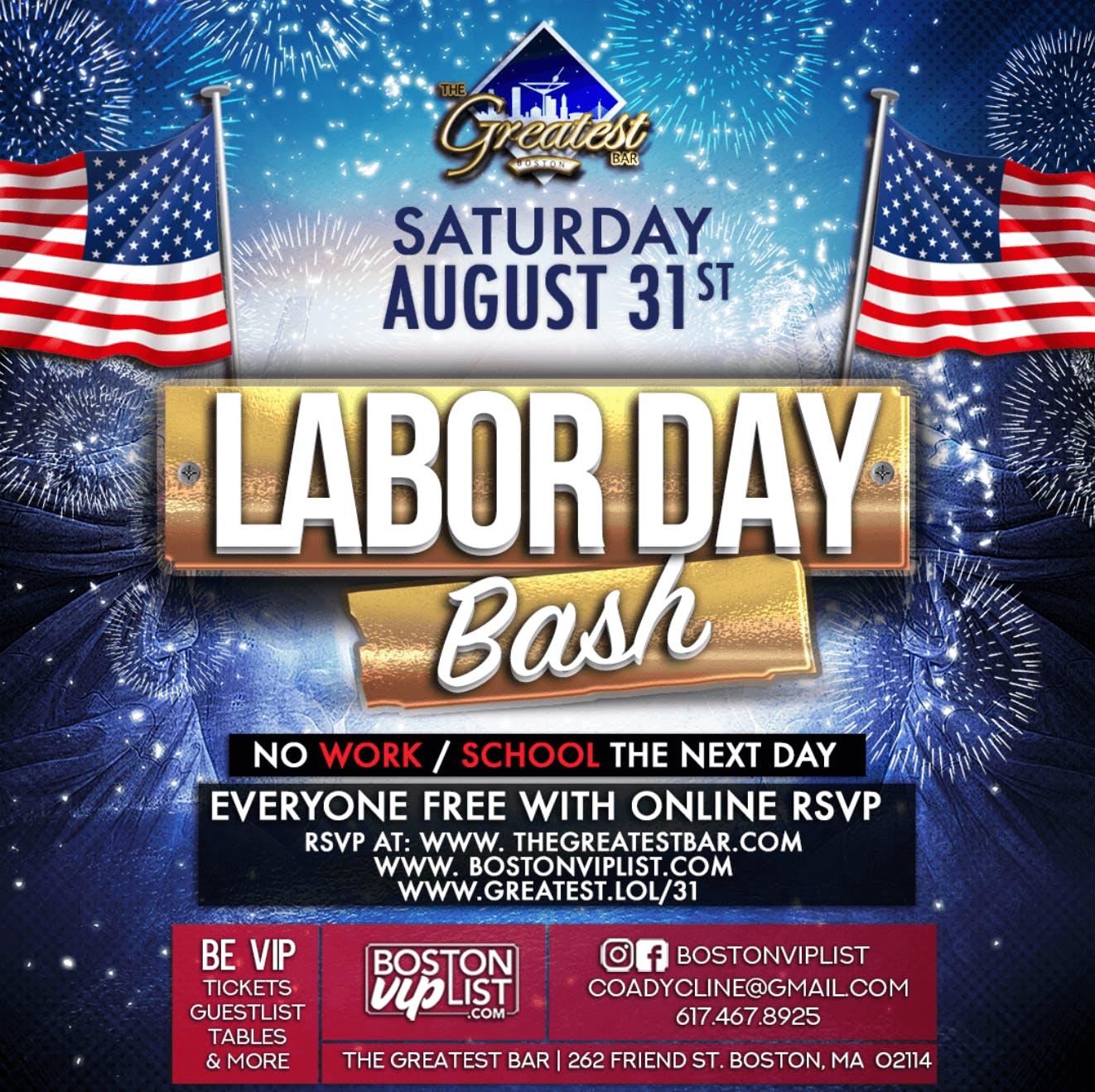 Labor Day Bash @ The Greatest Bar, Boston MA - Aug 31 ...