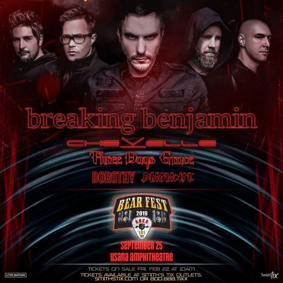 Kber 101 Presents Bearfest 2019 Breaking Benjamin Salt Lake City Ut Sep 25 2019 4 00 Pm 12 smith'stix coupons now on retailmenot. kber 101 presents bearfest 2019
