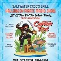 Halloween Pirate Magic show with Pupmpkin Carving