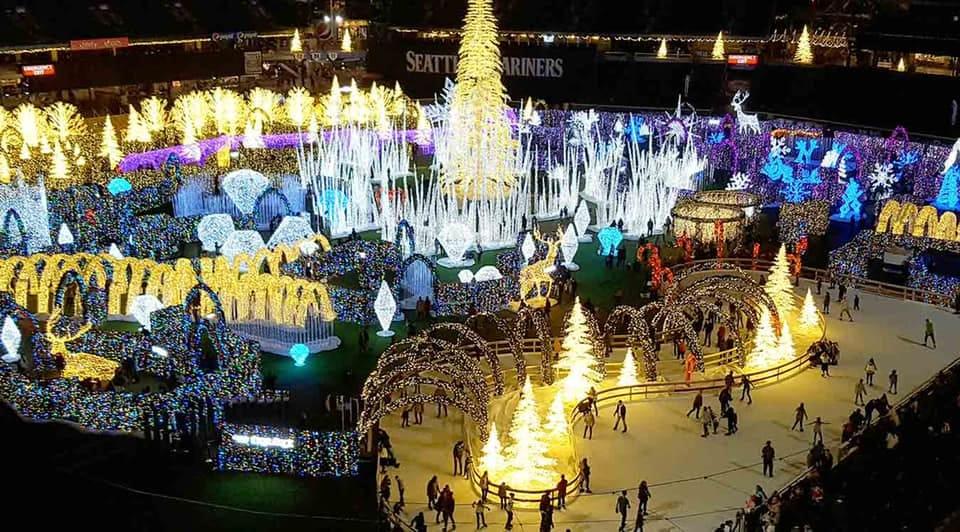 Driftheory at Enchant Christmas Light Festival