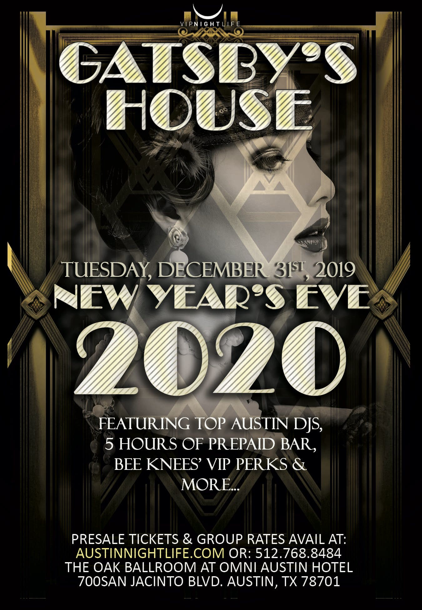 Gatsby's House - Austin New Year's Eve 2020, Austin TX ...